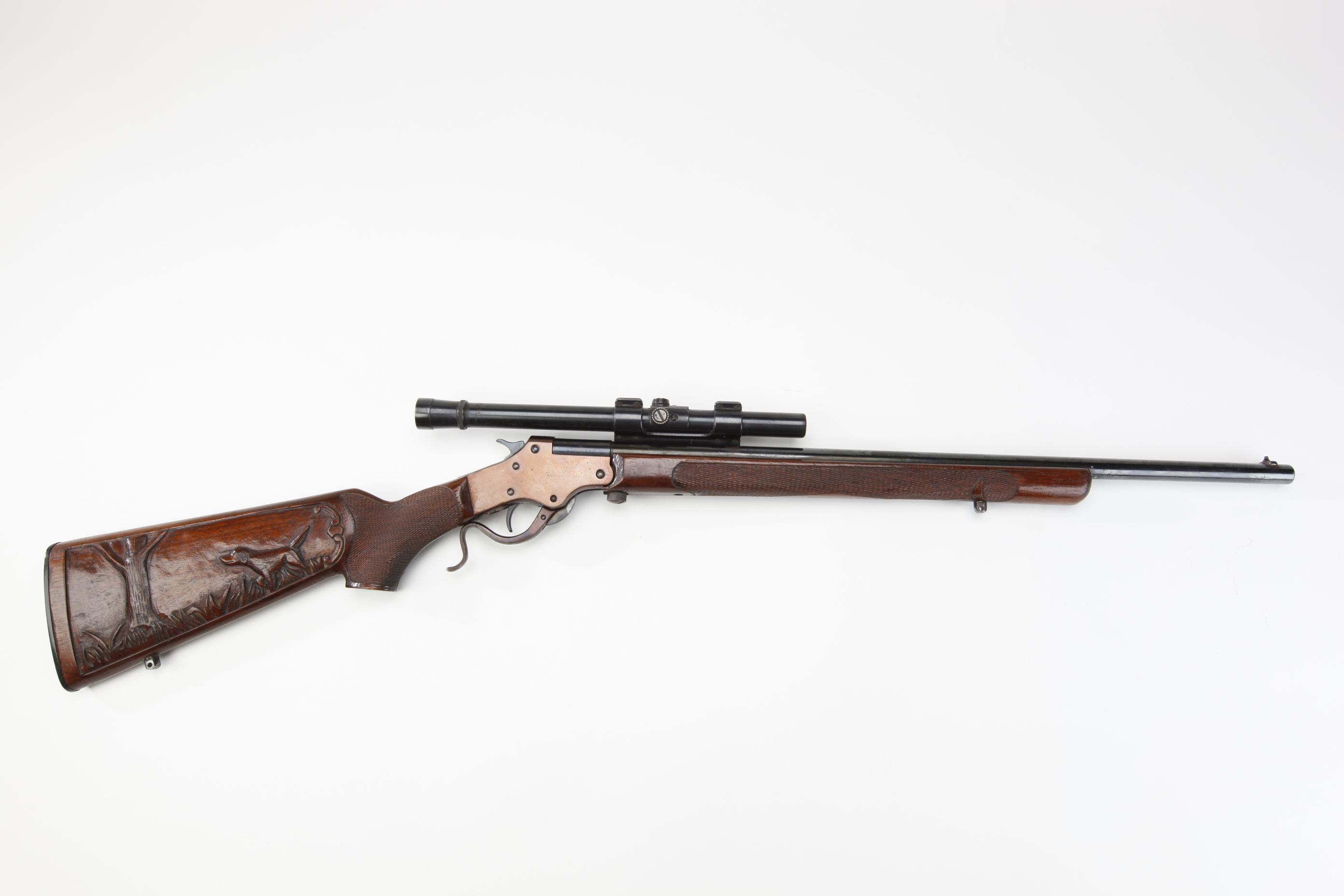 Stevens No 12 Marksman Single Shot Rifle w Weaver B4 telescopic sight