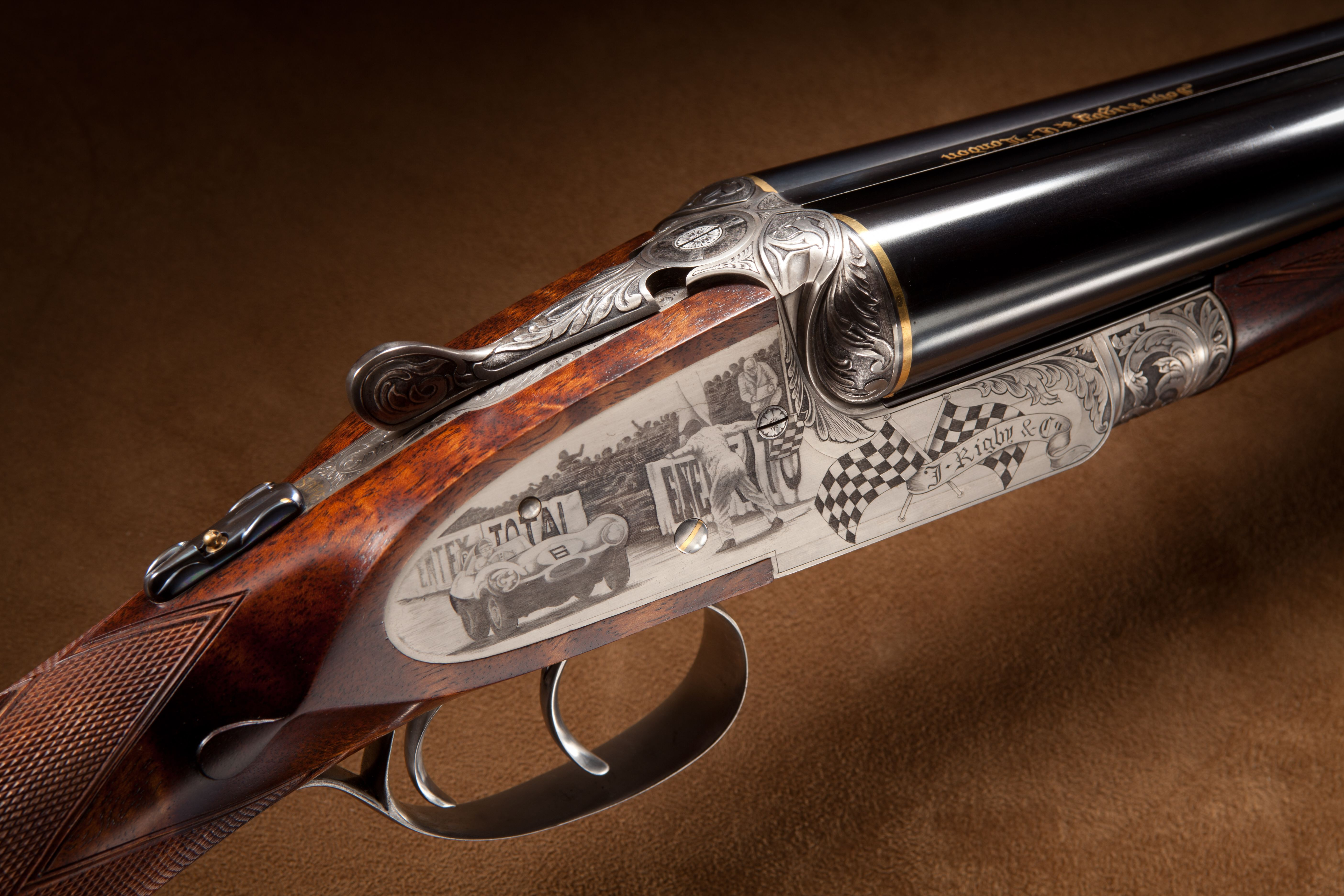 Rigby Engraved Side by Side Shotgun - 12 ga.