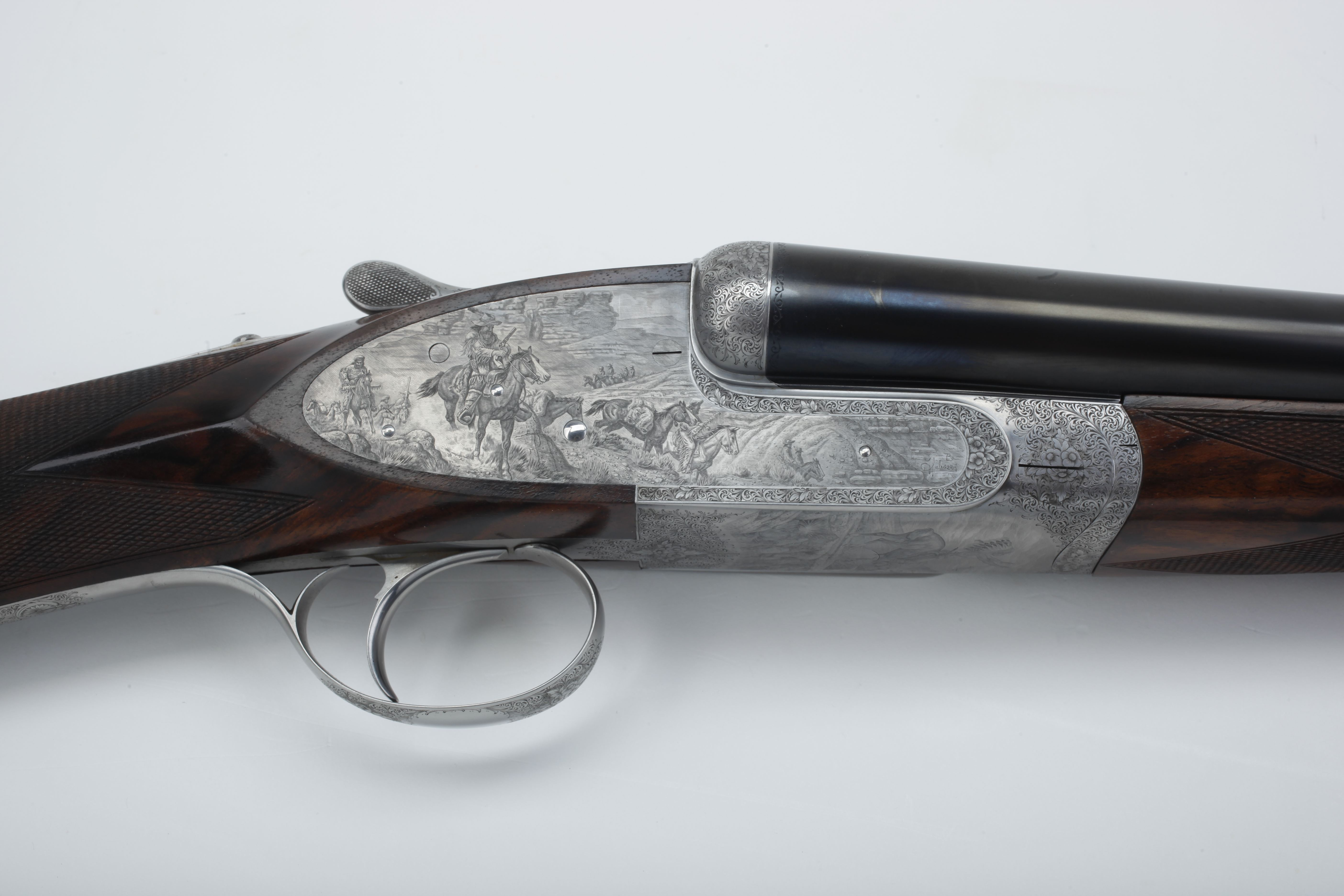 Rizzini Galeazzi-engraved Side-by-side Shotgun