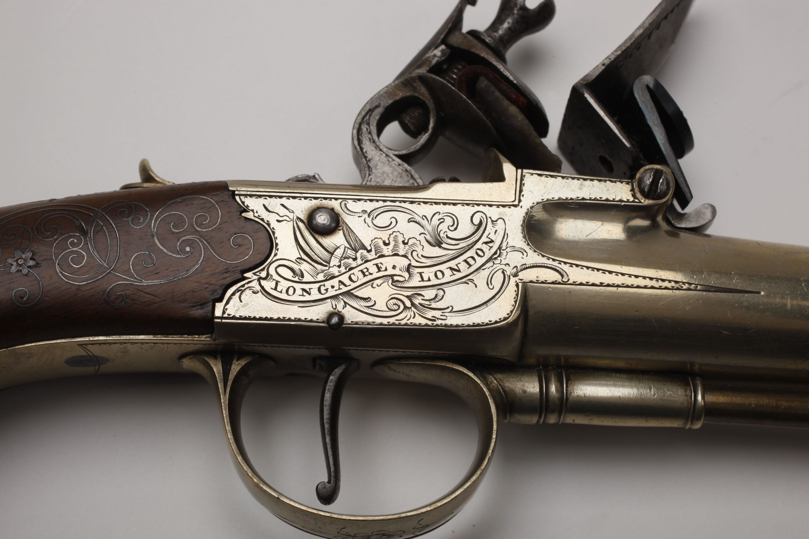 I Richards Cannon Barrel Flintlock Pistol