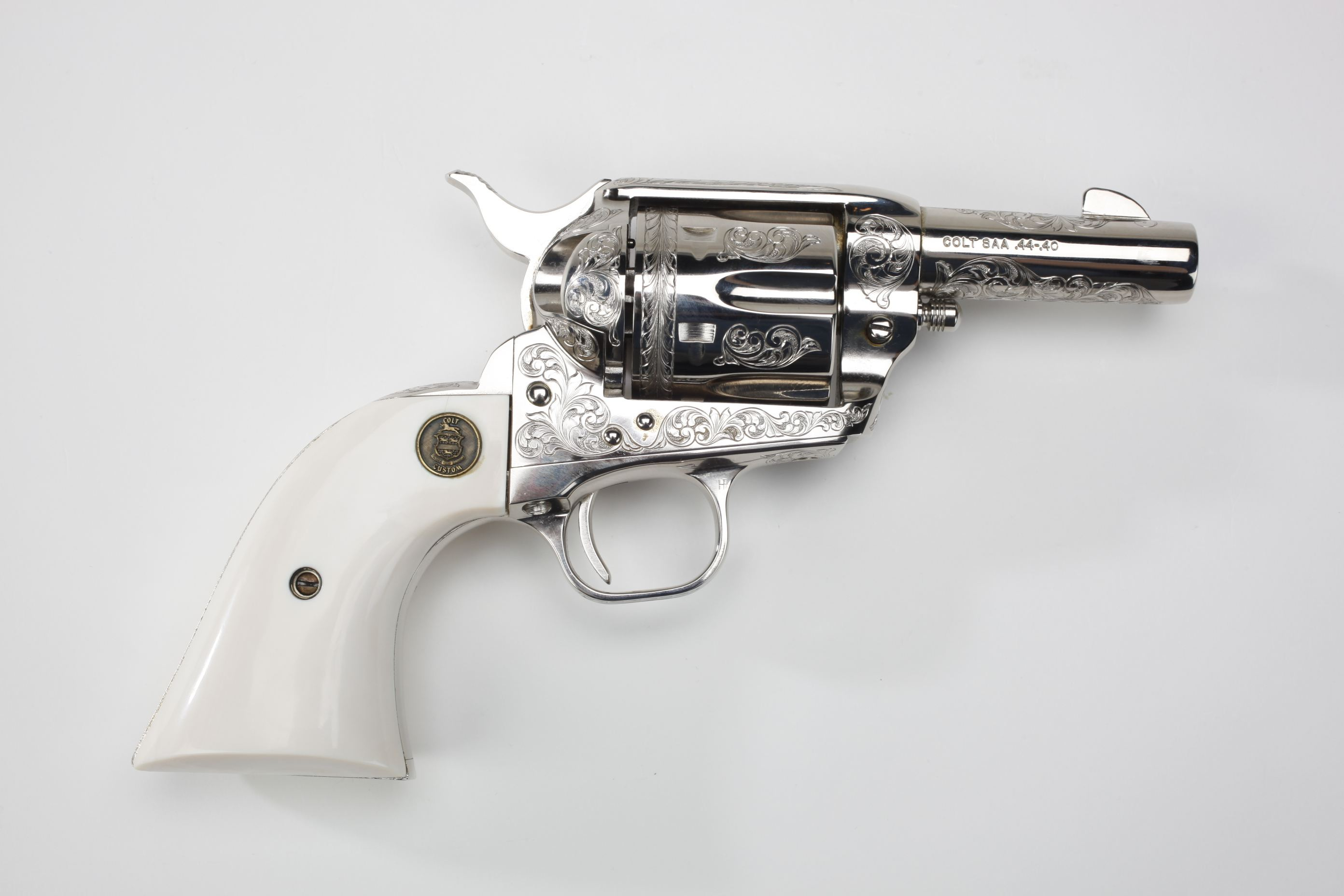 Colt Single Action Army Revolver (Sheriff's Model) w/ ivory grip panels
