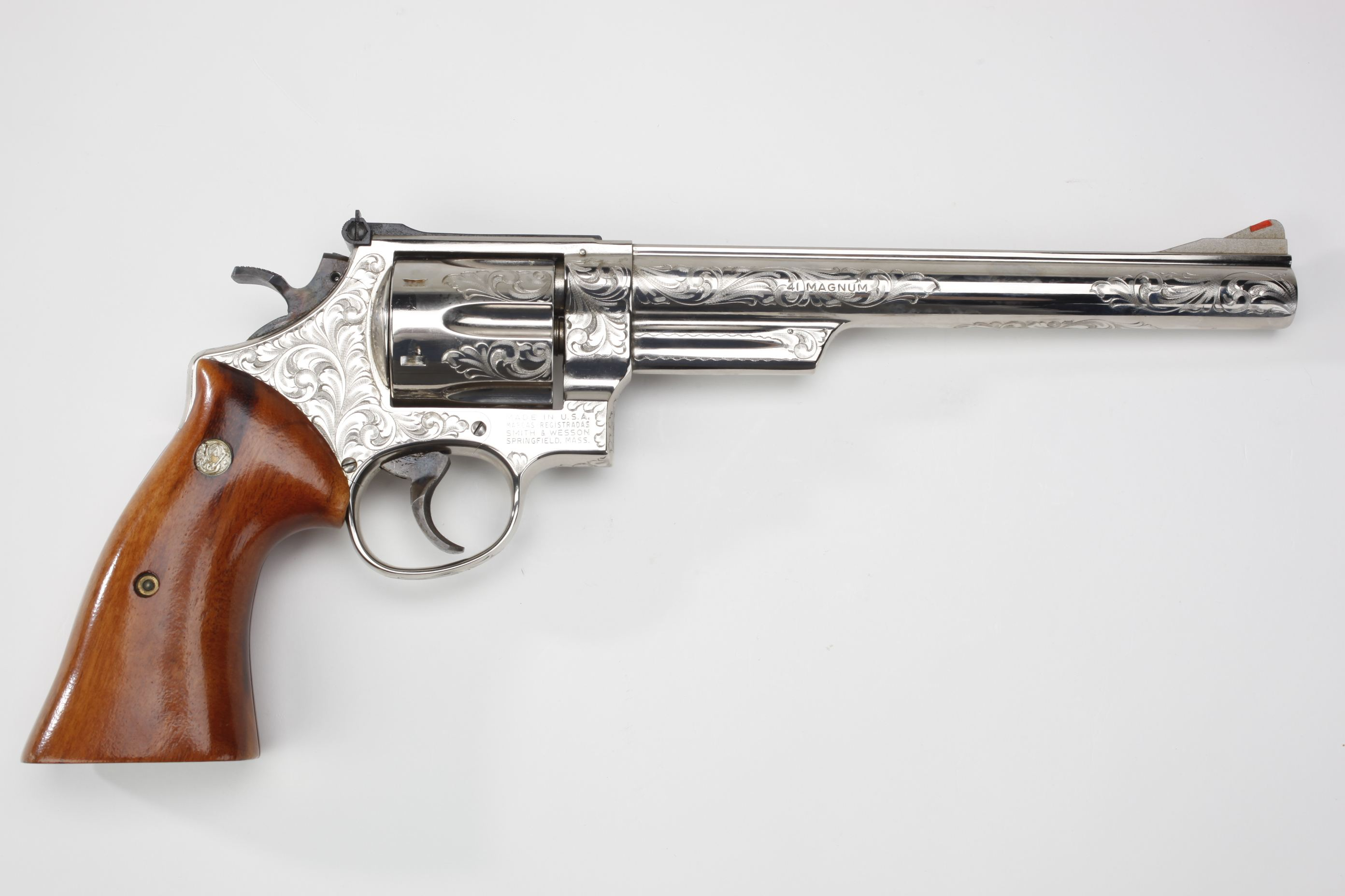 Smith & Wesson Model 57 Double-Action Revolver w/ wood grip panels