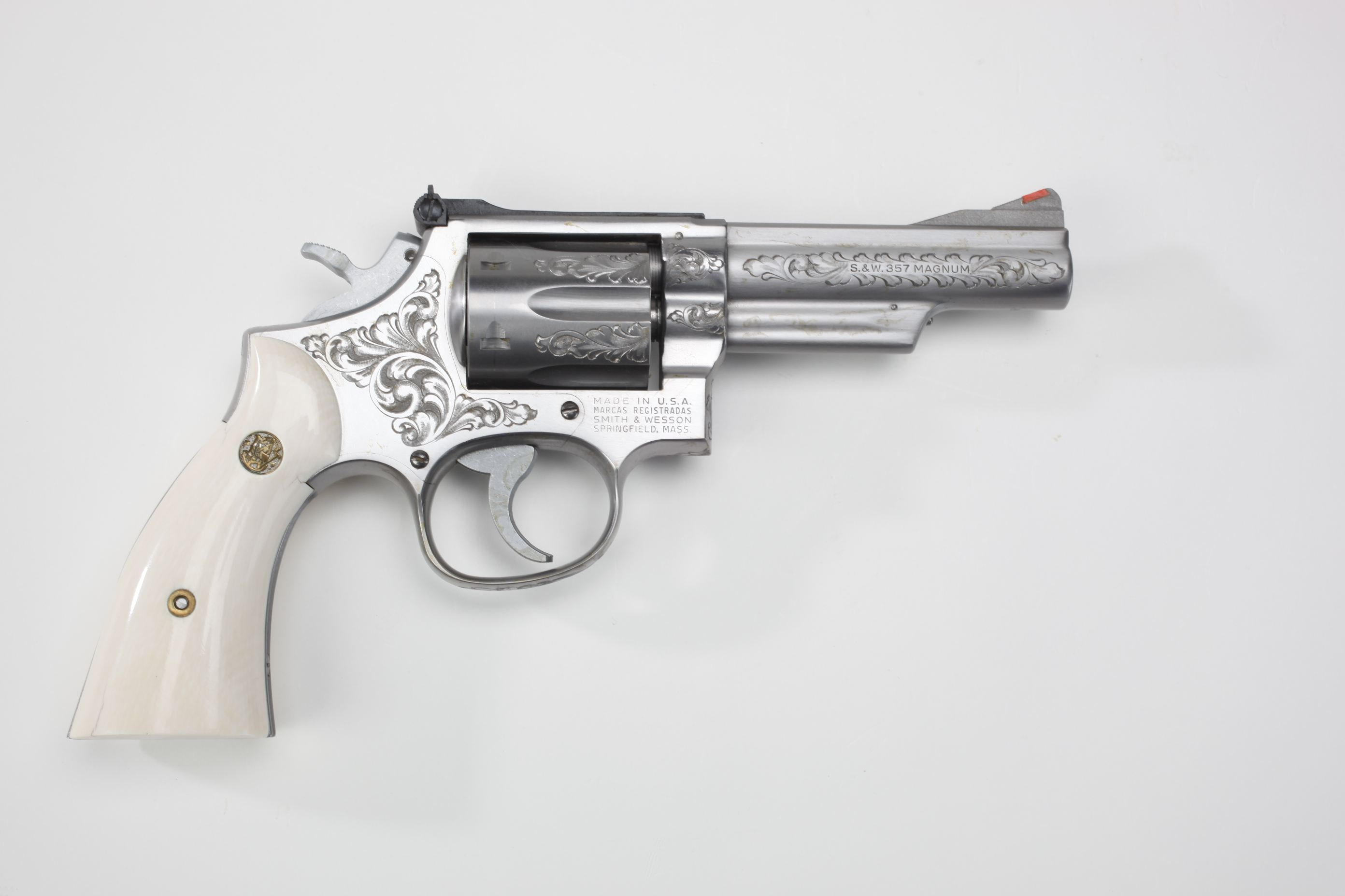 Smith & Wesson Model 66 Double-Action Revolver w/ ivory grip panels