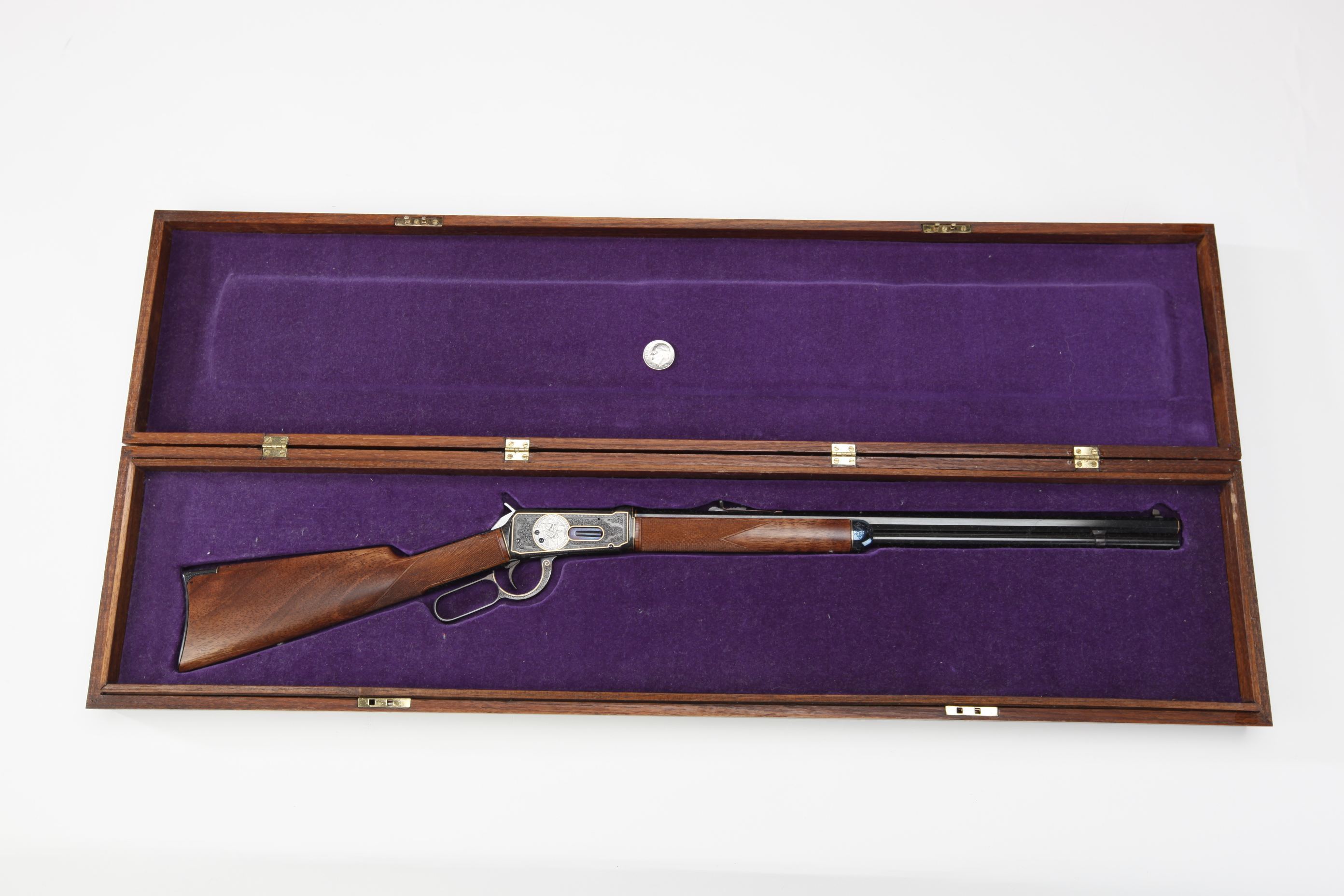 Miniature Cased and Engraved Winchester Model 1894 Rifle