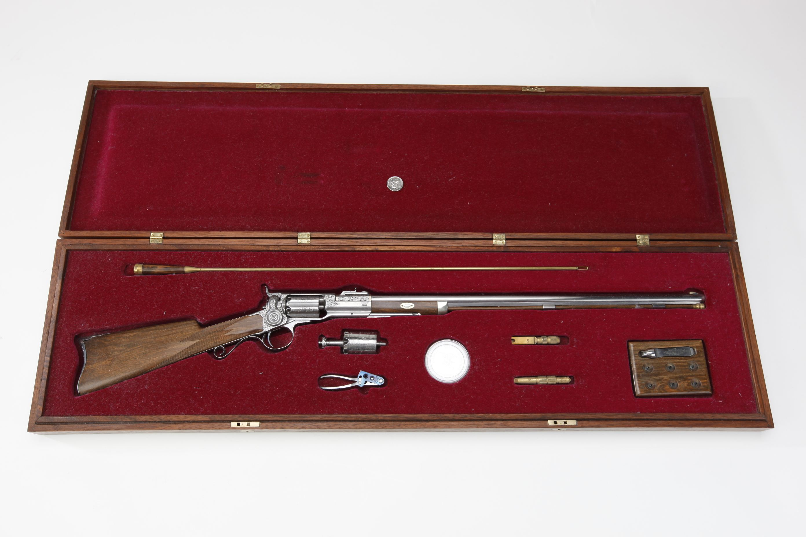 Miniature Cased Colt Revolving Rifle