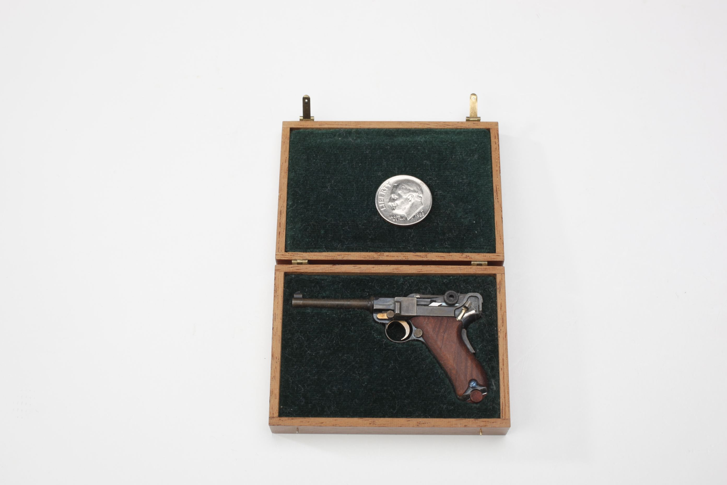 Miniature Cased Luger Semi-Automatic Pistol