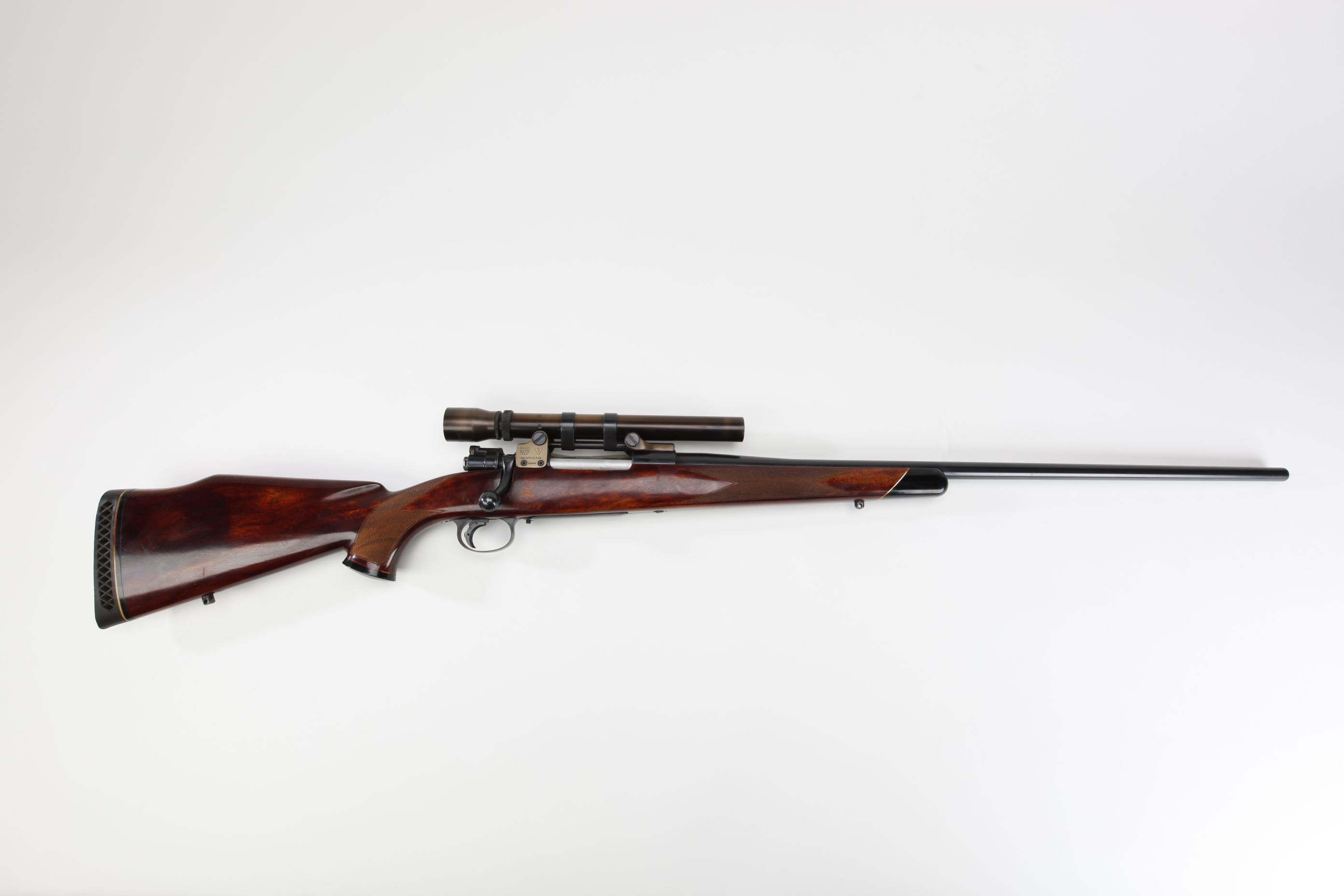 Weatherby FN Mauser Bolt Action Rifle with telescopic sight