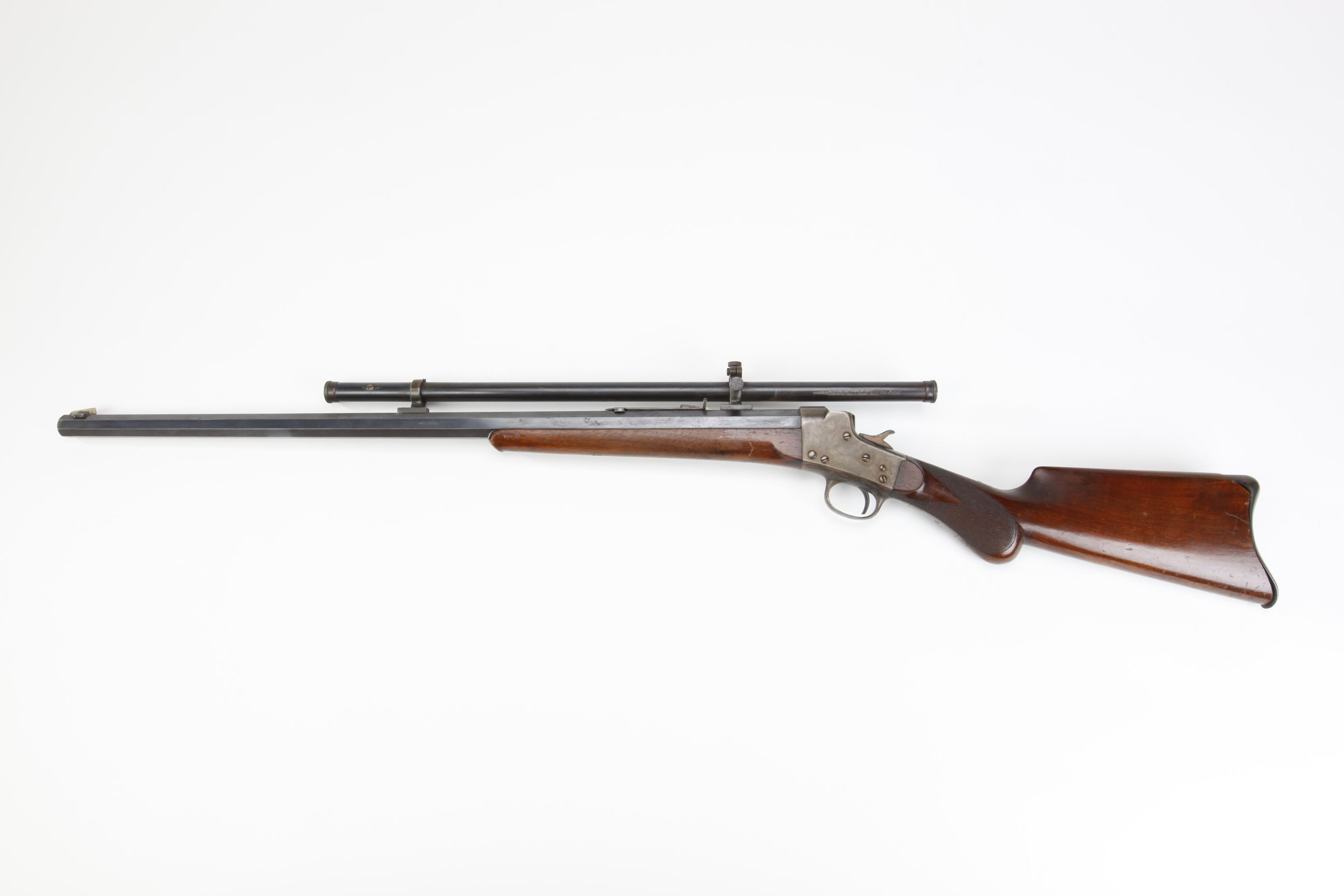 Remington Hepburn Rolling Block Rifle with Stevens telescopic sight
