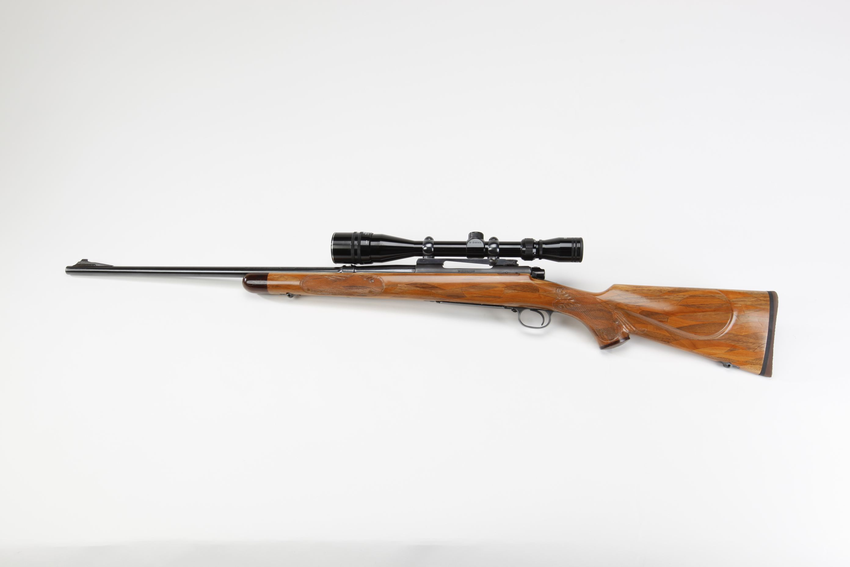 Winchester Model 70 Bolt Action Rifle w Tasco 6 24x40 scope