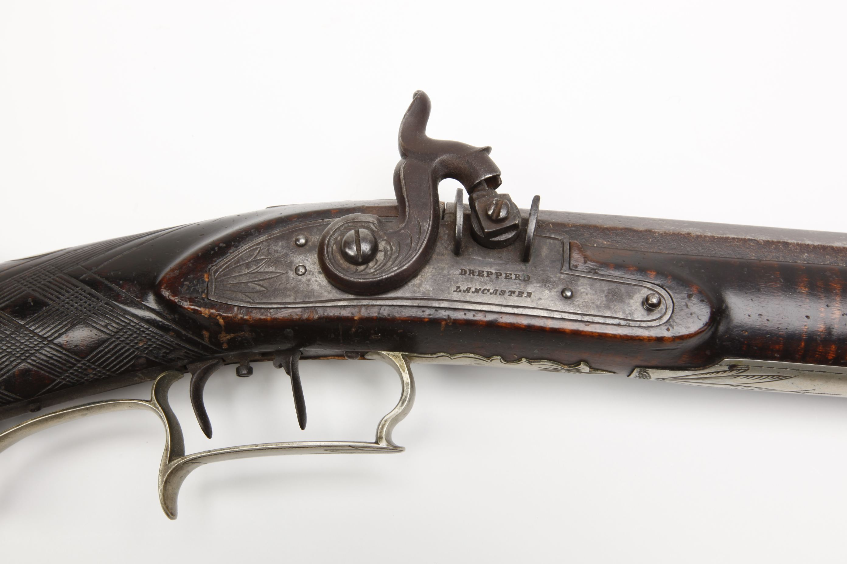 Henry Drepperd (Lancaster, PA) Pennsylvania/Kentucky Percussion Rifle