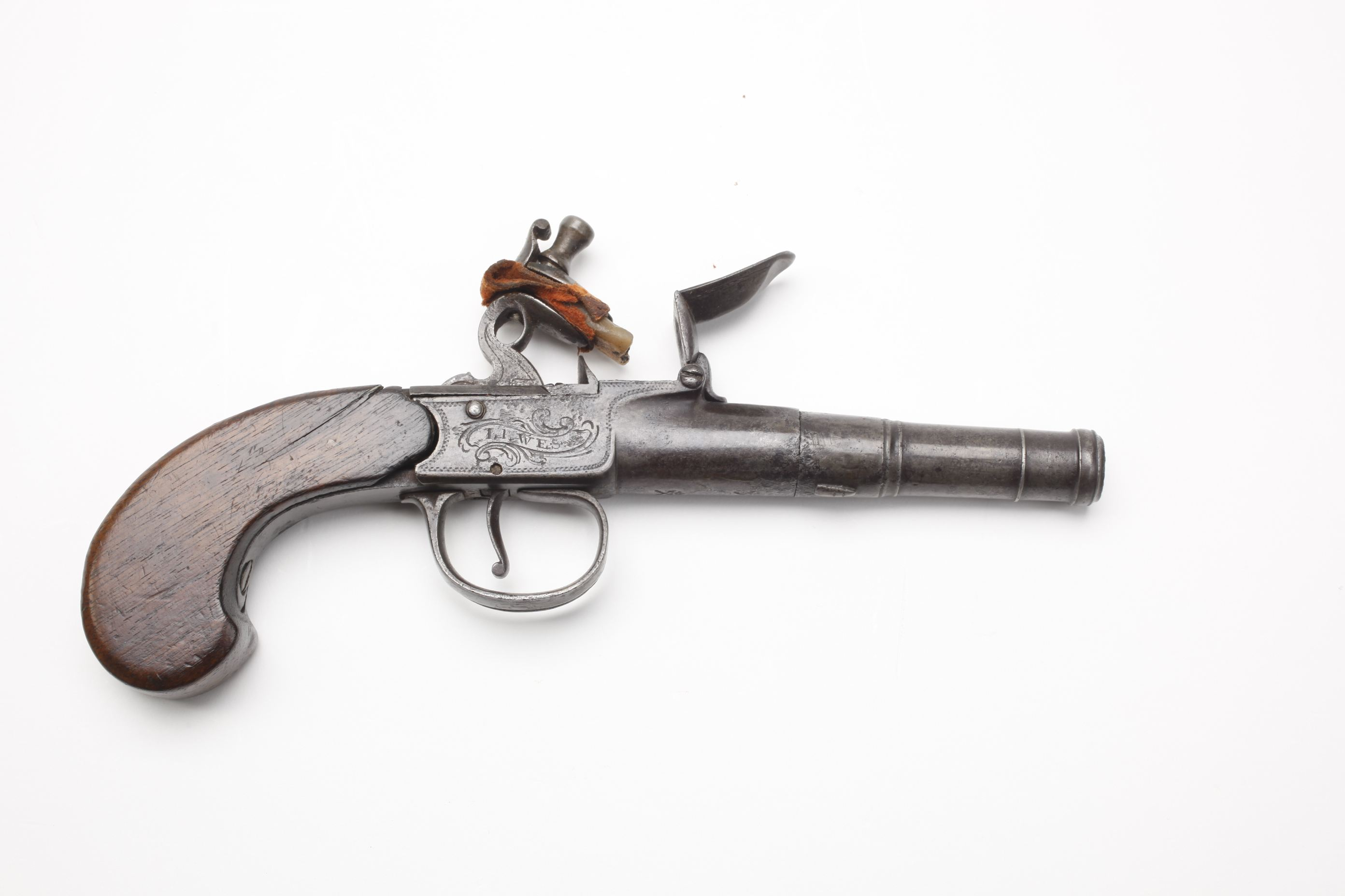 A. B. Weston Flintlock Turn barrel Pistol